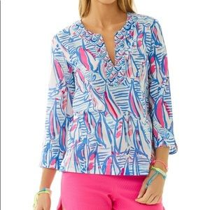 Lilly Pulitzer Amelia Island top Red Right Return